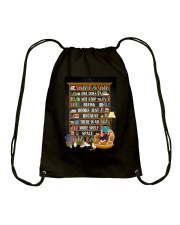 ONE DOES NOT STOP BUYING BOOKS Drawstring Bag tile
