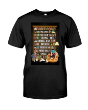 ONE DOES NOT STOP BUYING BOOKS Premium Fit Mens Tee tile