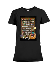 ONE DOES NOT STOP BUYING BOOKS Premium Fit Ladies Tee tile