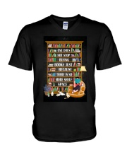 ONE DOES NOT STOP BUYING BOOKS V-Neck T-Shirt tile