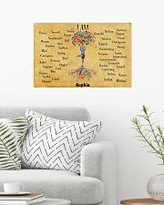 YOGA TREE - I AM  - CUSTOM NAME 24x16 Poster poster-landscape-24x16-lifestyle-01