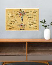 YOGA TREE - I AM  - CUSTOM NAME 24x16 Poster poster-landscape-24x16-lifestyle-25