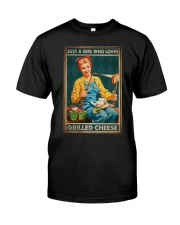 JUST A GIRL WHO LOVES GRILLED CHEEDE Premium Fit Mens Tee tile