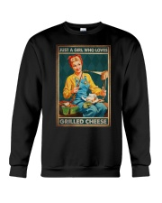 JUST A GIRL WHO LOVES GRILLED CHEEDE Crewneck Sweatshirt tile