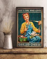 JUST A GIRL WHO LOVES GRILLED CHEEDE 11x17 Poster lifestyle-poster-3