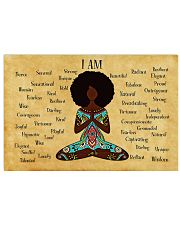 YOGA AFRO - I AM  24x16 Poster front