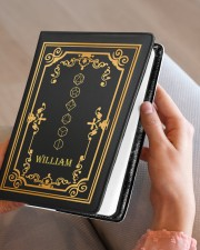 GAME NOTEBOOK - CUSTOM NAME Medium - Leather Notebook aos-medium-leather-notebook-lifestyle-front-05