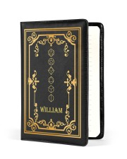 GAME NOTEBOOK - CUSTOM NAME Medium - Leather Notebook front
