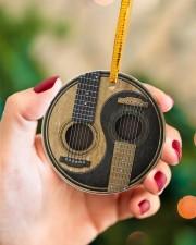 GUITAR YIN YANG Circle ornament - single (porcelain) aos-circle-ornament-single-porcelain-lifestyles-09