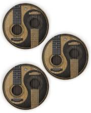 GUITAR YIN YANG Circle Ornament (Wood tile