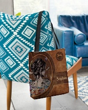 Hippie Girl Leather Pattern Print All-over Tote aos-all-over-tote-lifestyle-front-01