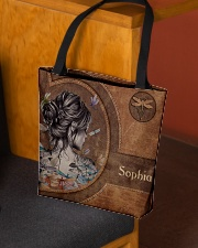 Hippie Girl Leather Pattern Print All-over Tote aos-all-over-tote-lifestyle-front-02