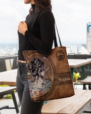 Hippie Girl Leather Pattern Print All-over Tote aos-all-over-tote-lifestyle-front-04