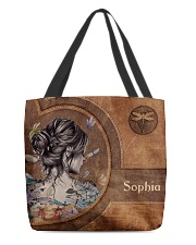 Hippie Girl Leather Pattern Print All-over Tote front