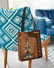 Yoga Leather Pattern Print All-over Tote aos-all-over-tote-lifestyle-front-01