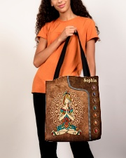 Yoga Leather Pattern Print All-over Tote aos-all-over-tote-lifestyle-front-06