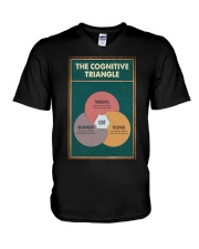 THE CORGNATIVE TRAINGLE V-Neck T-Shirt tile