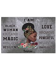 AFRICA BOOK GIRL - I AM  - CUSTOM NAME 24x16 Poster front