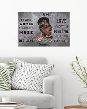AFRICA BOOK GIRL - I AM  - CUSTOM NAME 24x16 Poster poster-landscape-24x16-lifestyle-01