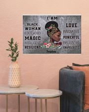 AFRICA BOOK GIRL - I AM  - CUSTOM NAME 24x16 Poster poster-landscape-24x16-lifestyle-22