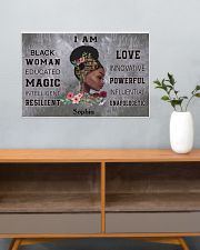 AFRICA BOOK GIRL - I AM  - CUSTOM NAME 24x16 Poster poster-landscape-24x16-lifestyle-25