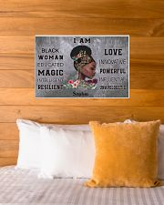 AFRICA BOOK GIRL - I AM  - CUSTOM NAME 24x16 Poster poster-landscape-24x16-lifestyle-27