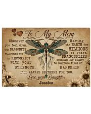 DRAGONFLY - TO MY MOM  - CUSTOM NAME 24x16 Poster front