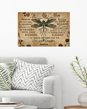 DRAGONFLY - TO MY MOM  - CUSTOM NAME 24x16 Poster poster-landscape-24x16-lifestyle-01