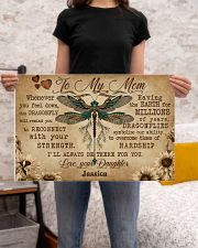 DRAGONFLY - TO MY MOM  - CUSTOM NAME 24x16 Poster poster-landscape-24x16-lifestyle-20