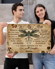 DRAGONFLY - TO MY MOM  - CUSTOM NAME 24x16 Poster poster-landscape-24x16-lifestyle-21