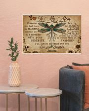 DRAGONFLY - TO MY MOM  - CUSTOM NAME 24x16 Poster poster-landscape-24x16-lifestyle-22
