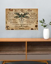 DRAGONFLY - TO MY MOM  - CUSTOM NAME 24x16 Poster poster-landscape-24x16-lifestyle-25