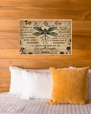 DRAGONFLY - TO MY MOM  - CUSTOM NAME 24x16 Poster poster-landscape-24x16-lifestyle-27