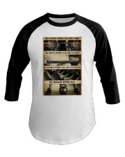 BE STRONG WHEN YOU ARE WEAK Baseball Tee tile