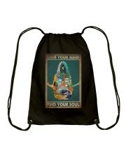 LOSE YOUR MIND FIND YOUR SOUL Drawstring Bag tile