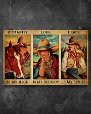 HUMANITY IS MY RACE 17x11 Poster poster-landscape-17x11-lifestyle-12