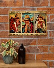 HUMANITY IS MY RACE 17x11 Poster poster-landscape-17x11-lifestyle-23