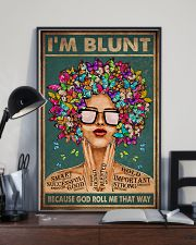 I'M BLUNT BECAUSE GOD ROLL ME THAT WAY 11x17 Poster lifestyle-poster-2