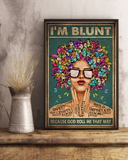 I'M BLUNT BECAUSE GOD ROLL ME THAT WAY 11x17 Poster lifestyle-poster-3