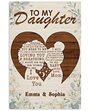 TO MY DAUGHTER - CUSTOM NAME 11x17 Poster front