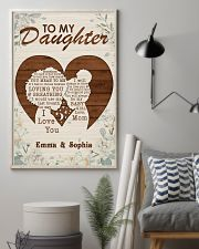 TO MY DAUGHTER - CUSTOM NAME 11x17 Poster lifestyle-poster-1