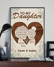 TO MY DAUGHTER - CUSTOM NAME 11x17 Poster lifestyle-poster-2