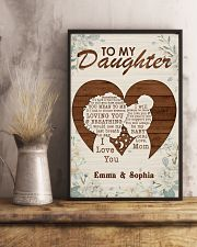 TO MY DAUGHTER - CUSTOM NAME 11x17 Poster lifestyle-poster-3