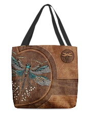 Hippie Girl Leather Pattern Print All-over Tote back