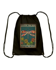 LIVE BY THE SUN LOVE BY THE MOON Drawstring Bag tile