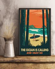 THE OCEAN IS CALLING AND I MUST GO 11x17 Poster lifestyle-poster-3