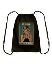 BE KIND TO YOUR MIND Drawstring Bag tile