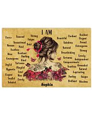 BREAST CANCER - I AM  - CUSTOM NAME 24x16 Poster front