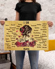 BREAST CANCER - I AM  - CUSTOM NAME 24x16 Poster poster-landscape-24x16-lifestyle-20