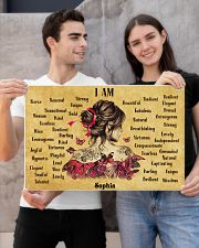 BREAST CANCER - I AM  - CUSTOM NAME 24x16 Poster poster-landscape-24x16-lifestyle-21